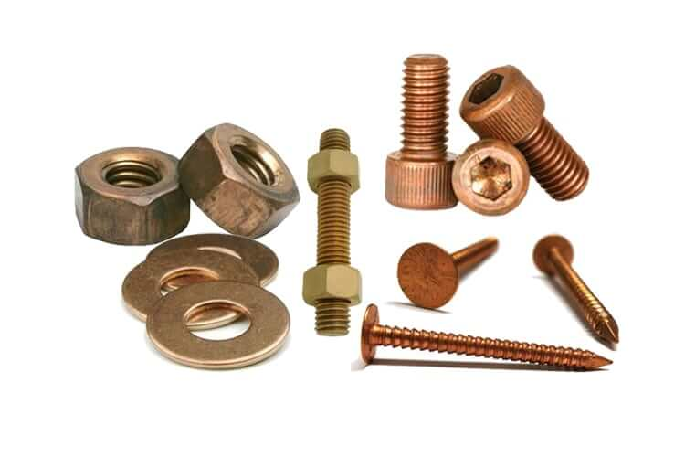 Copper Nuts And Bolts >> Copper Nickel Fasteners Cupro Nickel Fasteners Uns C70600 C71500